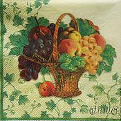 Материалы для творчества handmade. Livemaster - original item Wipes for decoupage basket with fruit, grapes, peaches, apples. Handmade.