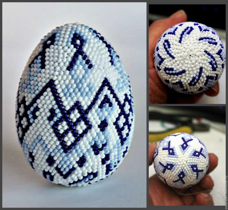 Яйцо хохлома бисер мастер класс идеи #2