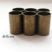 Комплект колпачков магнитный, 15 мм внутренний диаметр, цвет бронза