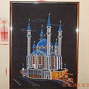 Картины ручной работы. Ярмарка Мастеров - ручная работа Вышитая картина мечеть Кул-Шариф. Handmade.