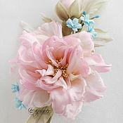 Свадебный салон handmade. Livemaster - original item fabric flowers. Silk flowers.The song