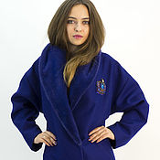 """Одежда ручной работы. Ярмарка Мастеров - ручная работа Пальто""""Синее"""". Handmade."""