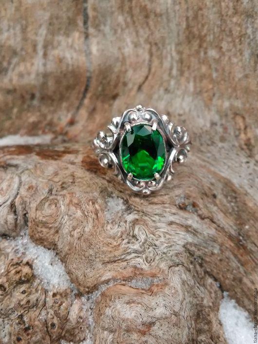 """Кольца ручной работы. Ярмарка Мастеров - ручная работа. Купить Кольцо """"Барокко,Зелень лесов"""".. Handmade. Комбинированный, женское кольцо"""