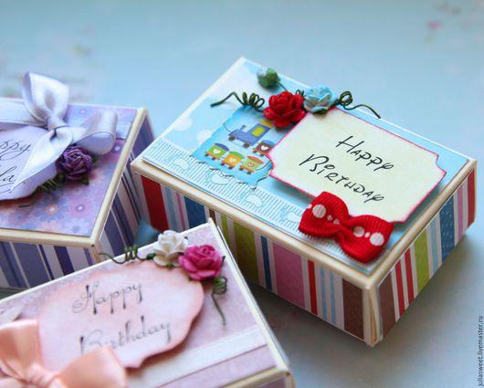 """Подарочная упаковка ручной работы. Ярмарка Мастеров - ручная работа. Купить Подарочная коробочка """"Mini"""". Handmade. Разноцветный, для подарка"""