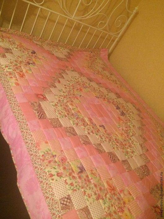 """Текстиль, ковры ручной работы. Ярмарка Мастеров - ручная работа. Купить Одеяло-покрывало пэчворк """"Розовое облако"""". Handmade. Покрывало"""