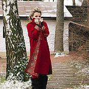 Одежда ручной работы. Ярмарка Мастеров - ручная работа Кафтан «Зимняя вишня». Handmade.