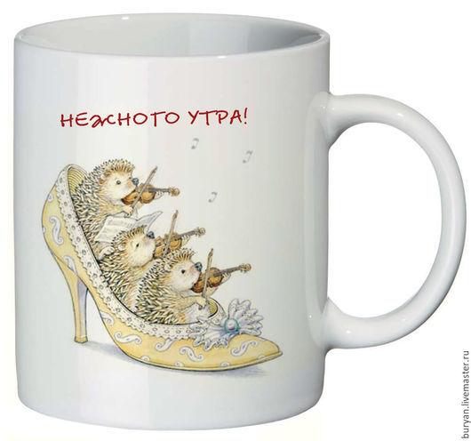 """Кружки и чашки ручной работы. Ярмарка Мастеров - ручная работа. Купить Кружка """"Нежного утра"""". Handmade. Белый, кружка в подарок"""