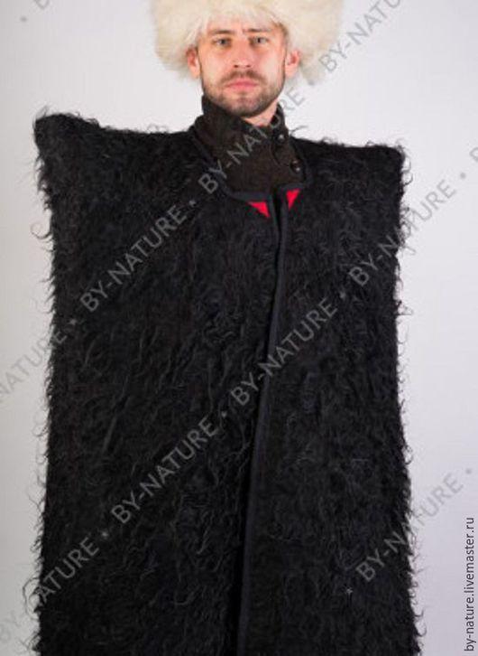 Этническая одежда ручной работы. Ярмарка Мастеров - ручная работа. Купить Бурка горская. Handmade. Черный, меховая, бурка, горская