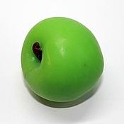 Мыло Зеленое Яблоко 3D, сувенирное мыло ручной работы.