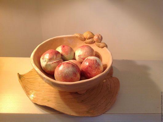 Декоративная посуда ручной работы. Ярмарка Мастеров - ручная работа. Купить Ваза для фруктов Прованс. Handmade. Бежевый, авторская керамика