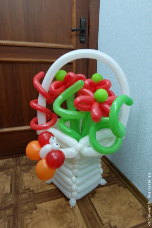 """Персональные подарки ручной работы. Ярмарка Мастеров - ручная работа. Купить композиция""""весенняя"""". Handmade. Разноцветный, воздушный шар, к празднику"""