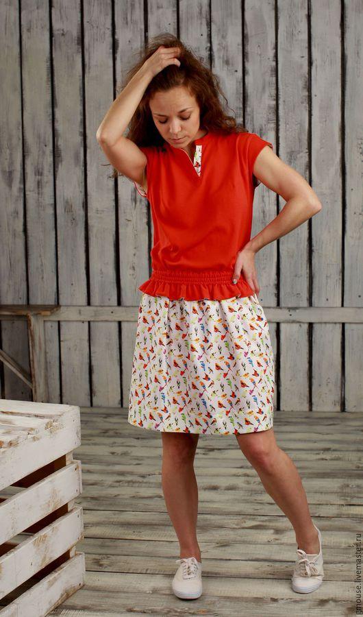 Платья ручной работы. Ярмарка Мастеров - ручная работа. Купить Комплект Платье + юбка. Handmade. Ярко-красный, юбка