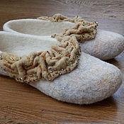 """Обувь ручной работы. Ярмарка Мастеров - ручная работа Тапочки """"Королевские"""". Handmade."""