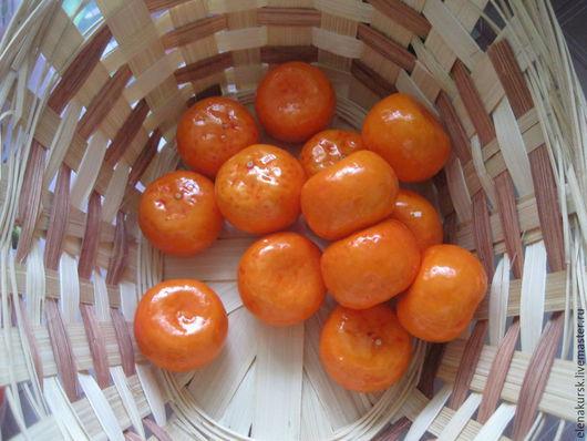 Искусственные растения ручной работы. Ярмарка Мастеров - ручная работа. Купить Искусственные мандарины(декоративные). Handmade. Оранжевый, мандарин, фрукты