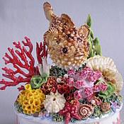 """Для дома и интерьера ручной работы. Ярмарка Мастеров - ручная работа Композиция """"Коралловый риф"""" - 2 (Рыба-шар). Handmade."""