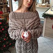 Одежда handmade. Livemaster - original item A wool sweater with thick yarn female. Handmade.