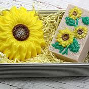 Косметика ручной работы handmade. Livemaster - original item Sunflower soap set. Handmade.