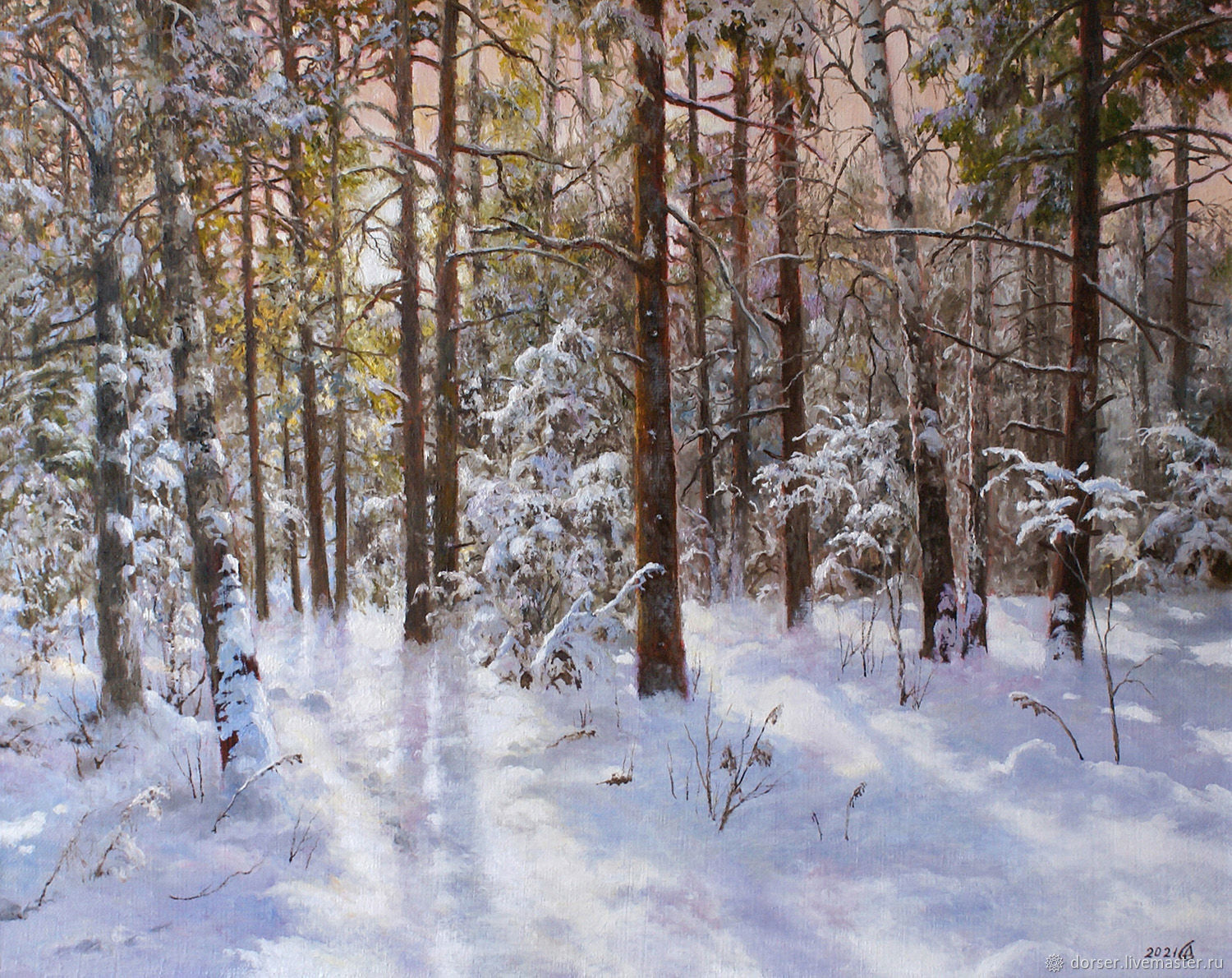 Picture - Winter morning in the forest, Pictures, Moscow,  Фото №1