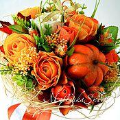 """Цветы и флористика ручной работы. Ярмарка Мастеров - ручная работа Букет из конфет """"Осенние краски"""". Handmade."""