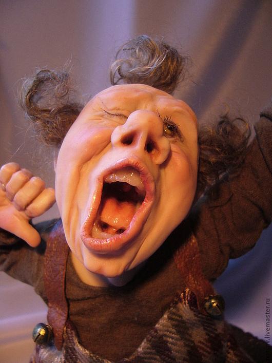 """Коллекционные куклы ручной работы. Ярмарка Мастеров - ручная работа. Купить """"С добрым утром"""" нашел дом. Handmade. Хаки"""