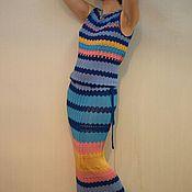 "handmade. Livemaster - original item Knitted Dress ""Soon the dawn"". Handmade."