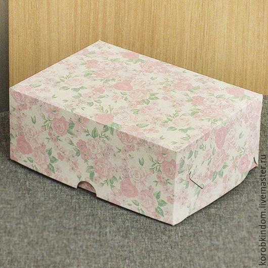 Упаковка ручной работы. Ярмарка Мастеров - ручная работа. Купить Коробочка 15х11х6 см с цветочным принтом. Handmade. Коробочка
