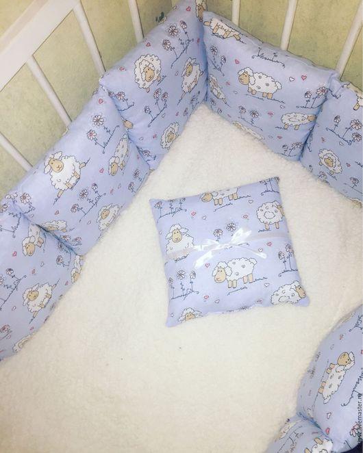 Для новорожденных, ручной работы. Ярмарка Мастеров - ручная работа. Купить Бортики-подушки в кроватку. Handmade. Бортики в кроватку