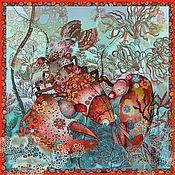 """Платки ручной работы. Ярмарка Мастеров - ручная работа Авторский платок """"Рак"""". Handmade."""