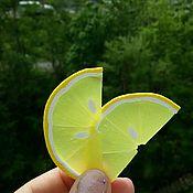 Дизайн и реклама ручной работы. Ярмарка Мастеров - ручная работа Лимон из полимерной глины. Handmade.