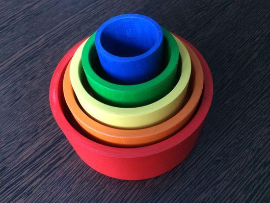 Развивающие игрушки ручной работы. Ярмарка Мастеров - ручная работа. Купить Пирамидка из баночек. Handmade. Пирамидка, развивающая игрушка