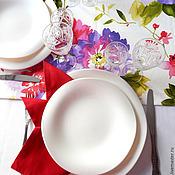 """Для дома и интерьера ручной работы. Ярмарка Мастеров - ручная работа Комплект столового белья """"Пурпурные пионы"""" (столовая дорожка, салфетки. Handmade."""