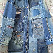 handmade. Livemaster - original item Boho denim Raincoat. Handmade.