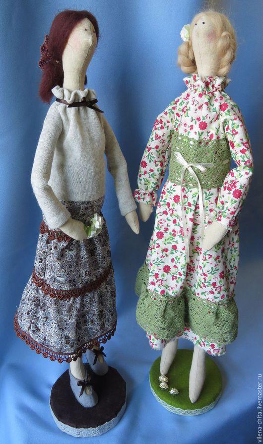 Карина и Майя - авторские куклы в стиле тильда