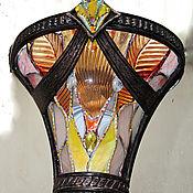 Бра ручной работы. Ярмарка Мастеров - ручная работа Витражный светильник в ковку-в стиле арт-деко.. Handmade.