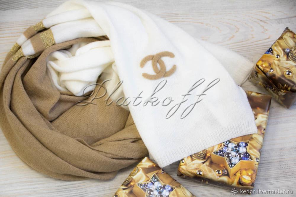"""Трикотажный палантин из ткани Chanel """"Женственность"""", Палантины, Москва,  Фото №1"""