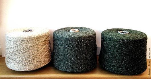 Вязание ручной работы. Ярмарка Мастеров - ручная работа. Купить Самарканд - 75% шерсть, 25% - шелк. Handmade. Тёмно-зелёный