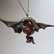 """Подарки к праздникам ручной работы. Ярмарка Мастеров - ручная работа Дракон кулон """"Хранитель огня"""". Handmade."""