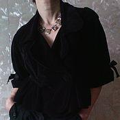 Одежда ручной работы. Ярмарка Мастеров - ручная работа Жакет  бархатный с баской. Handmade.