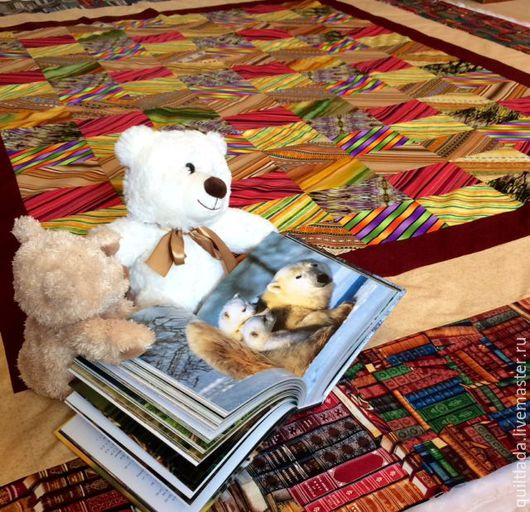 Текстиль, ковры ручной работы. Ярмарка Мастеров - ручная работа. Купить Лоскутное покрывало  Библиотека. Handmade. Пэчворк, лоскутное шитье