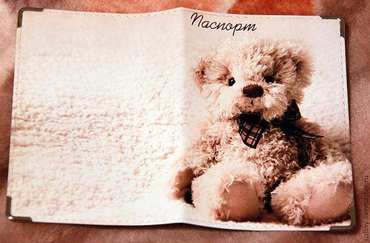 """Обложки ручной работы. Ярмарка Мастеров - ручная работа. Купить обложка """"Плюшевый мишка"""". Handmade. Обложка, подарок, Плюшевый мишка"""
