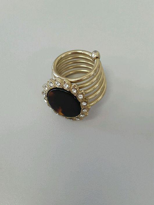 Винтажные украшения. Ярмарка Мастеров - ручная работа. Купить кольцо для шарфа панцирь черепахи винтаж Япония. Handmade. Кольцо для шарфа