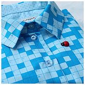 Одежда ручной работы. Ярмарка Мастеров - ручная работа Рубашка с кроссвордами. Handmade.