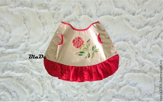 """Одежда для собак, ручной работы. Ярмарка Мастеров - ручная работа. Купить Платье """"Роза """". Handmade. Ярко-красный, хлопок"""