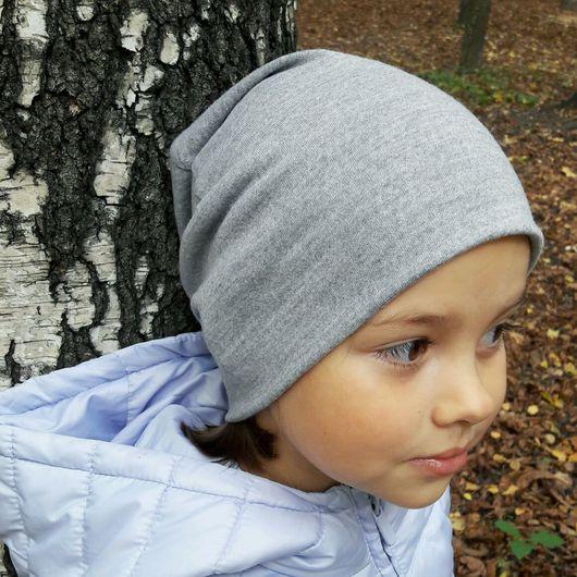 Шапки и шарфы ручной работы. Ярмарка Мастеров - ручная работа. Купить Детская шапка серая шерсть. Handmade. Шапка