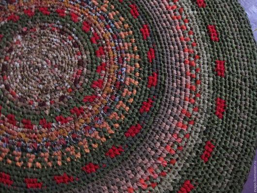 """Текстиль, ковры ручной работы. Ярмарка Мастеров - ручная работа. Купить Ковер текстильный """"Король Оранжевое поле"""" ПРОДАН. Handmade."""