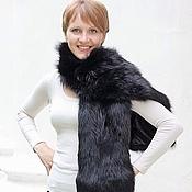 Аксессуары handmade. Livemaster - original item Fox fur scarf in black. Handmade.