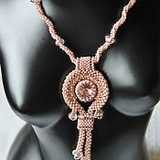 Украшения handmade. Livemaster - original item Pendant necklace beaded with Swarovski crystal Tenderness. Handmade.