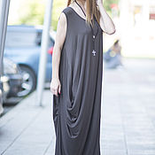 Одежда handmade. Livemaster - original item Brown floor-length dress. Handmade.
