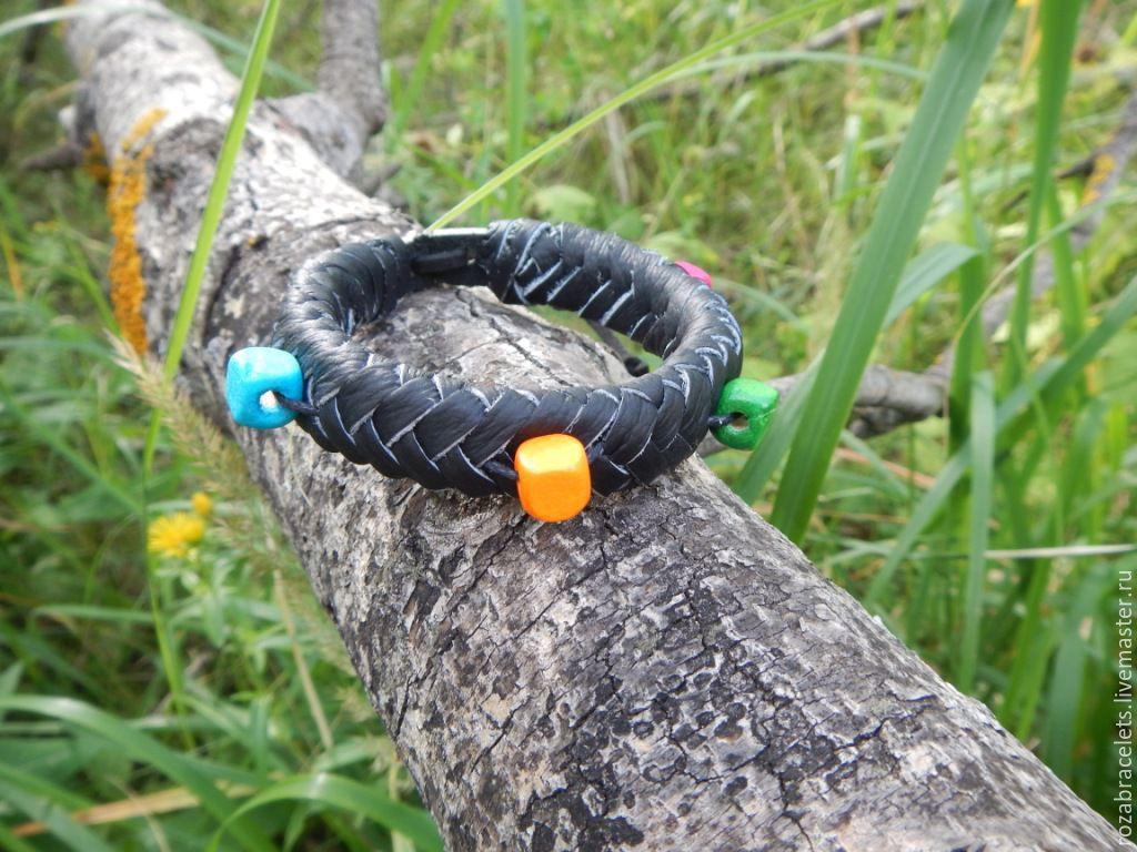 Leather braided bracelet Summer mood, Braided bracelet, Ulyanovsk,  Фото №1