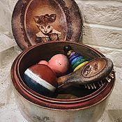 Для дома и интерьера handmade. Livemaster - original item Kitty - an old box with toys (set). Handmade.